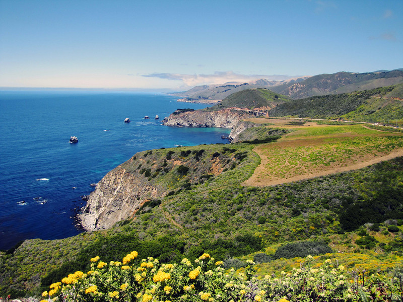 Highway 1, Monterey coast, looking north