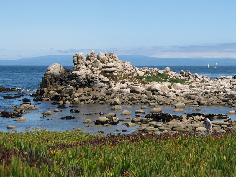 Monterey Bay at Pacific Grove, looking north to Santa Cruz