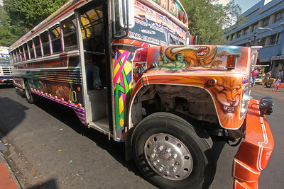 'Rojo Diablo',  Red Devil bus, Panama City
