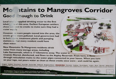 Pomax Track - Mountains to Mangroves Corridor - Information - Milne Hill  Reserve - Raven St Reserve & Milne Hill Reserve; West Chermside, Brisbane, Queensland, Australia; 03 October 2012. Photos by Des Thureson