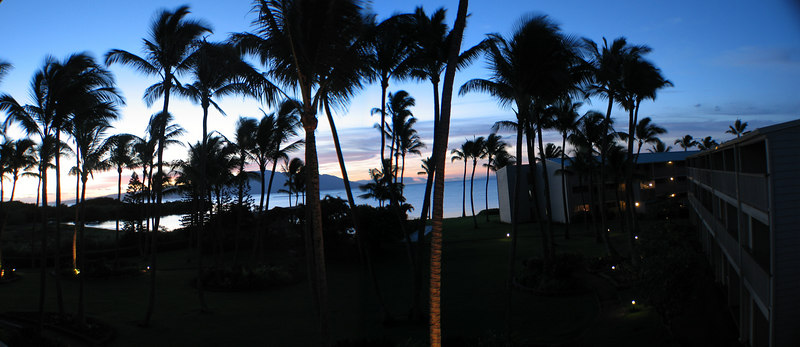 Sunrise on Molokai with Maui in the background