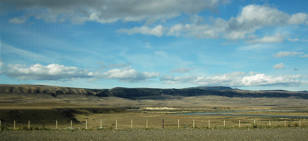"""Argentinian Pampas on the way to """"El Calafate"""". Patagonia, Argentina, December 19th 2006"""
