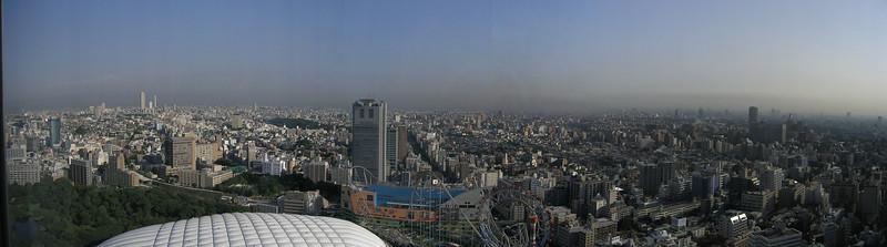 Tokyo Pano, vedere din Tokyo Dome Hotel