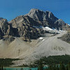 Crowfoot Glacier (on the left), near Icefield Parkway