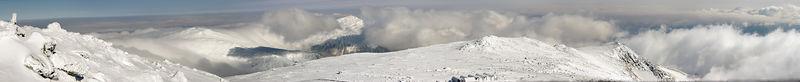 Mount Washington Winter panorama