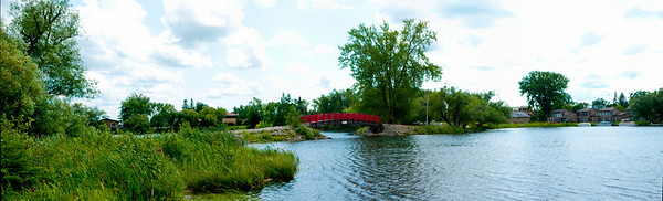 Red Bridge in Park Rapids MN