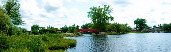 Red Bridge in Park Rapids MN