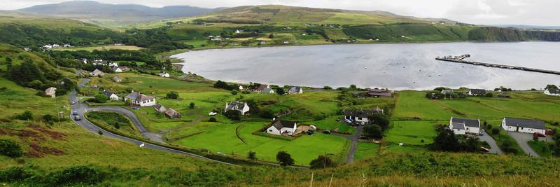 Uig Harbor and ferry landing on the Isle of Skye