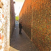 Bubble gum alley, the wall are covered with stuck on bubble gum