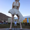 This huge sculpture of Marylin Monroe is in Palm Springs until June then its going to Japan never to be seen again in the US