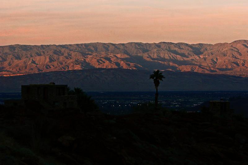 Desert Shadows creep up the surrounding hills