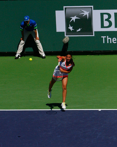 I attended a couple of matches at the BNP Tennis tournament in Indian Wells in February and have a few shots of the match between Bartollini