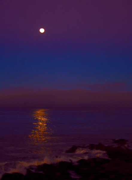 Moon Set Near Cambria with some enhancements