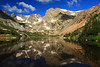 Glassy Isabelle, Lake Isabelle, Indian Peaks Wilderness, CO<br /> <br /> This was our second day hiking to Lake Isabelle and the weather was much better!  Isabelle is so gorgeous, and it's only about a two hour hike to get there.  Paul Sr. and Jeff (my stepbrother) hiked up to the continental divide, another three hours or so, and pretty much straight up.<br /> <br /> Nini and I relaxed around Isabelle, had some lunch and took tons of pictures!  It was awesome!