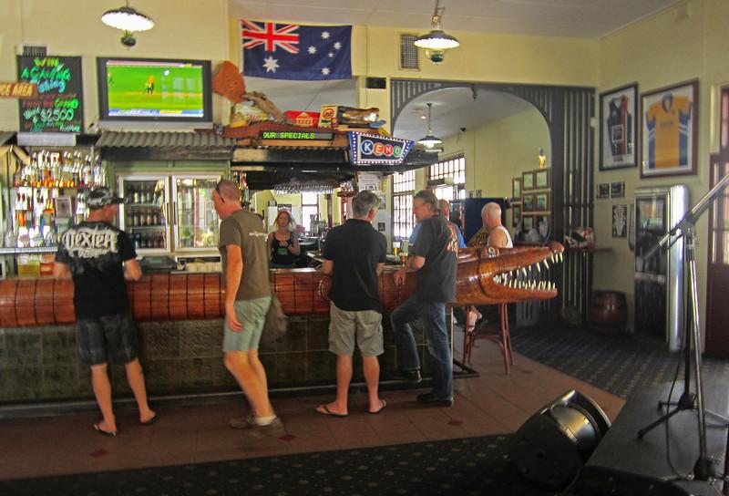 Crocodile Pub in Cairns AU.  good bar