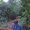 Steve records data during a morning bird survey.