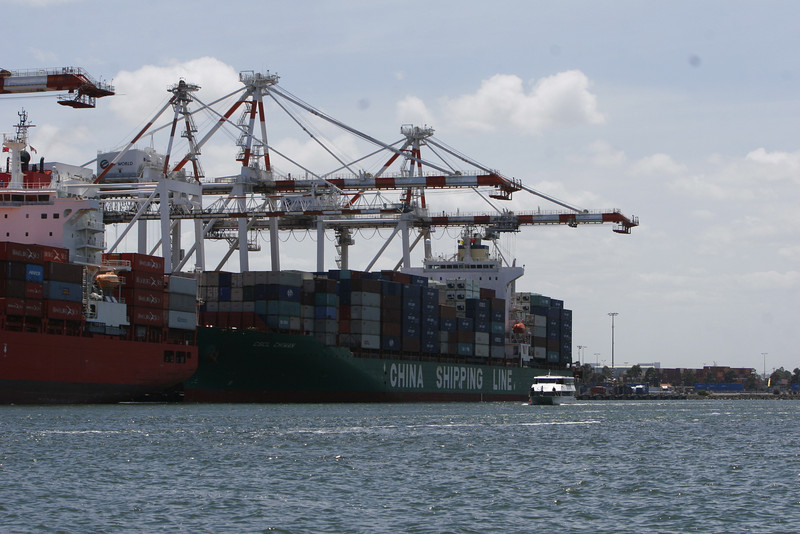 Very active port shipping all over asia.