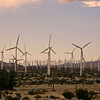 There are hundreds of these huge windmills located west of palm springs./