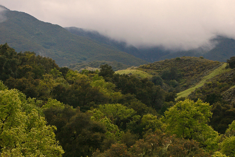 Beautiful San Inez valleylies inland from the Central California Coast Road.