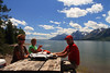 "Best Picnic Ever! Jackson Lake, WY<br /> <br /> The sign said ""lake view picnic area."" That sign was accurate, but it could have said ""best set of picnic tables you'll find anywhere in the world,"" and that would have been more accurate."
