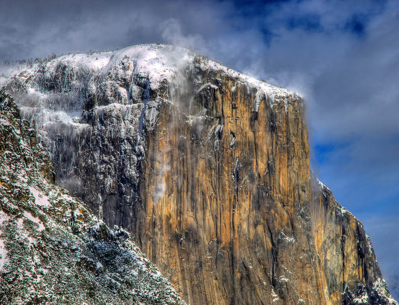 El Capitan during the winter.