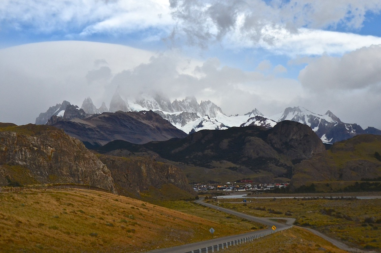 This was the best view we got of Fitz Roy. I hate clouds.