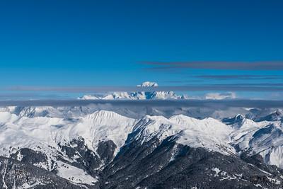 Le Mont Blanc depuis La Saulire