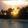 Coucher de soleil à Bora Bora - Motu Tevairoa - Polynésie Française