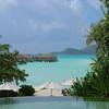 Vue Restaurant Hôtel Pearl Beach Resort à Bora Bora - Motu Tevairoa - Polynésie Française