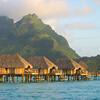 Vue sur le Mont Otemanu à Bora Bora - Motu Tevairoa - Polynésie Française