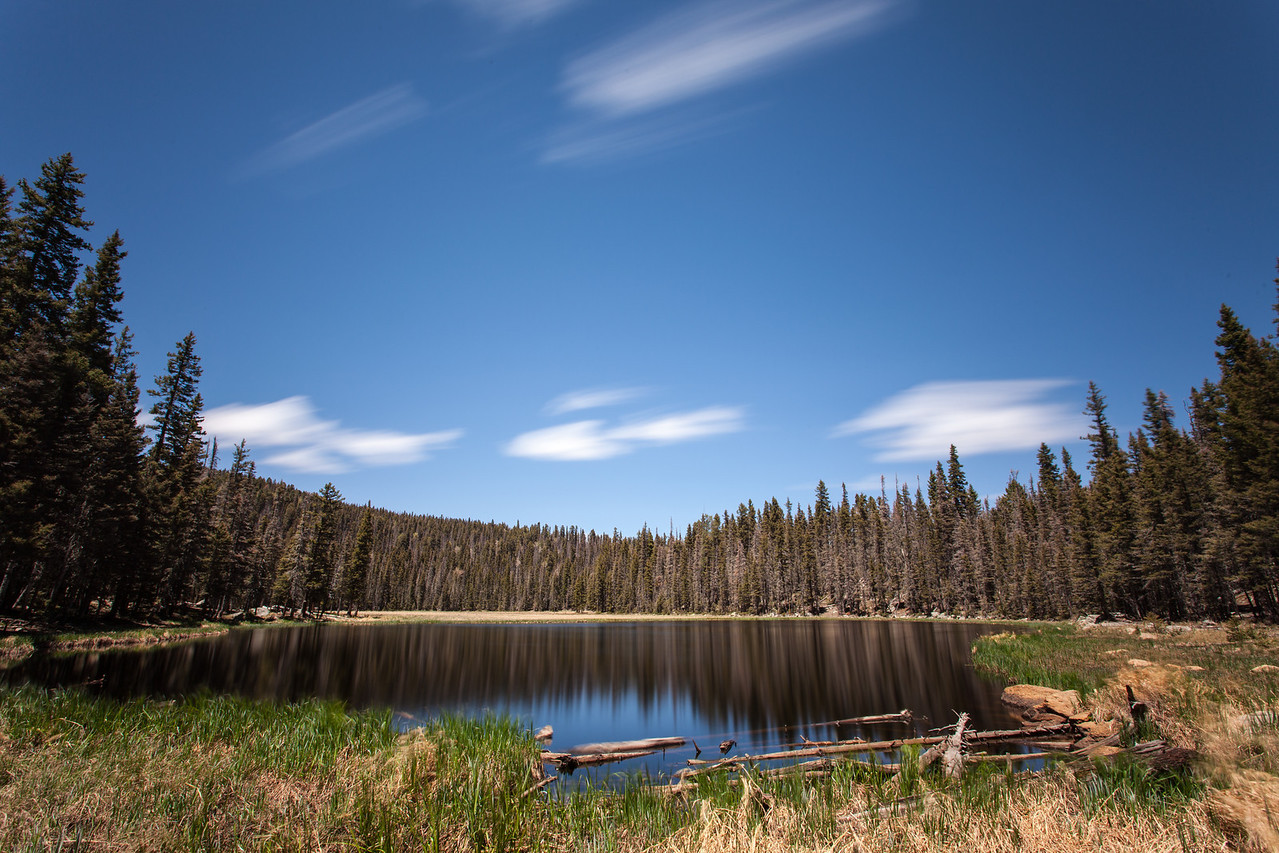 Pond near Stewart Lake - long exposure.