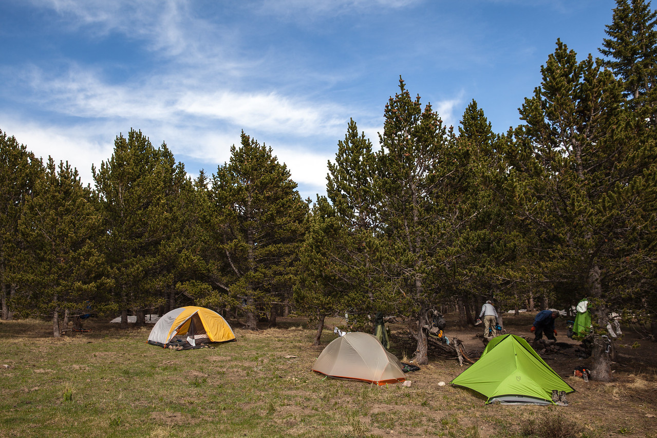 Camp - Pecos Baldy Lake.