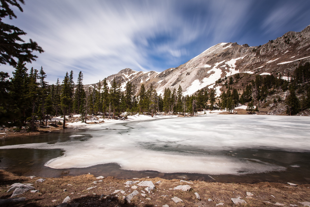 Truchas Lake - long exposure.