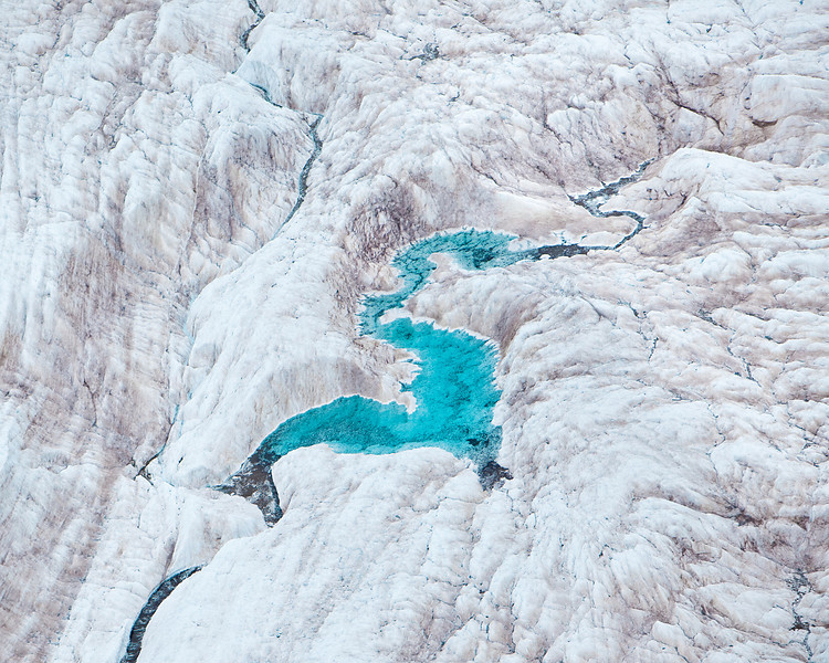 Glacial 'S'tream, aerial view, Wrangell-St. Elias National Park, Alaska.
