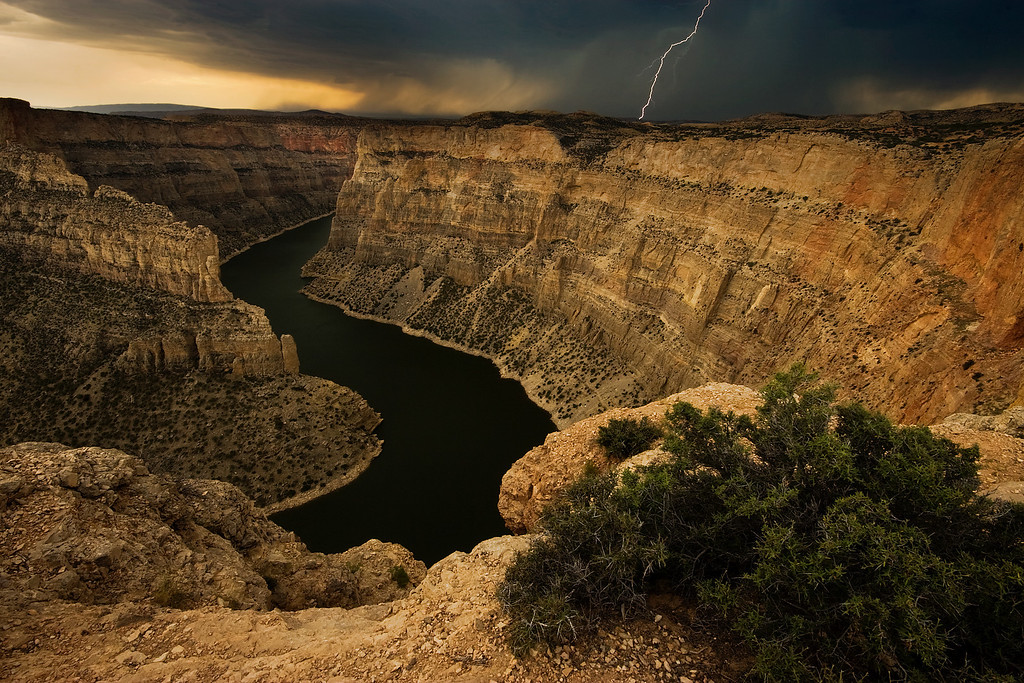 Canyon Storm.  Bighorn Canyon, WY