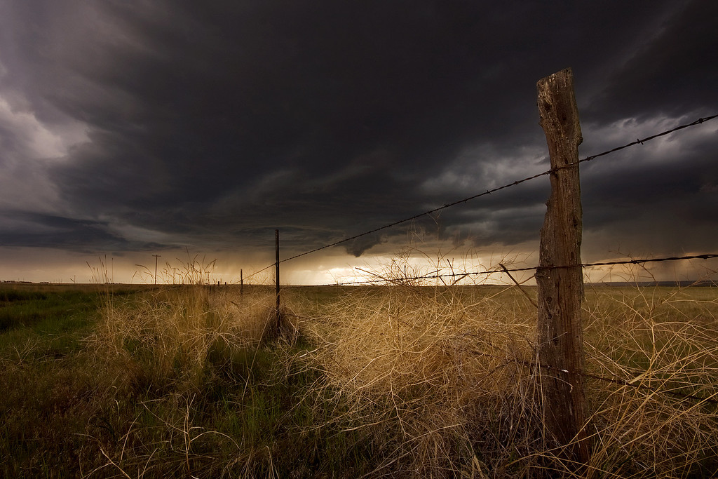 Angry Sky II<br /> Summer storm just north of Billings, Montana