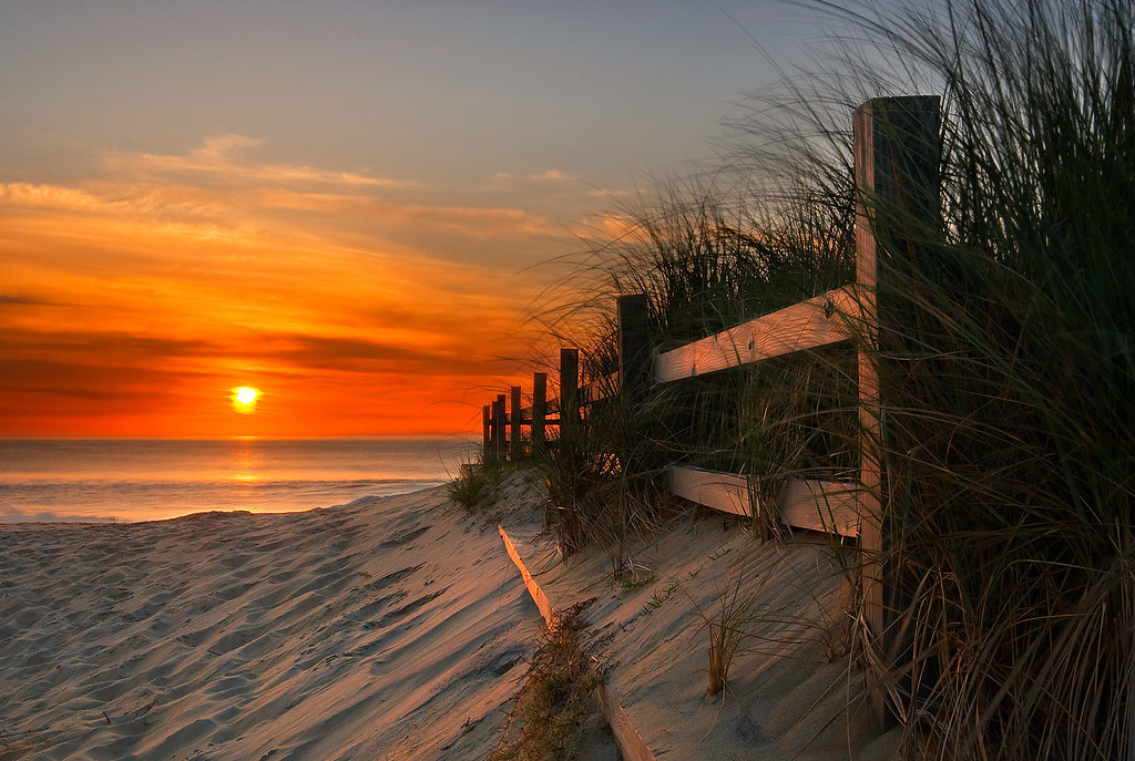 """Sandbridge Beach, #2.  This photo was published in the January 2008 issue of 'Digital Camera' magazine as """"Shot of the Month""""."""