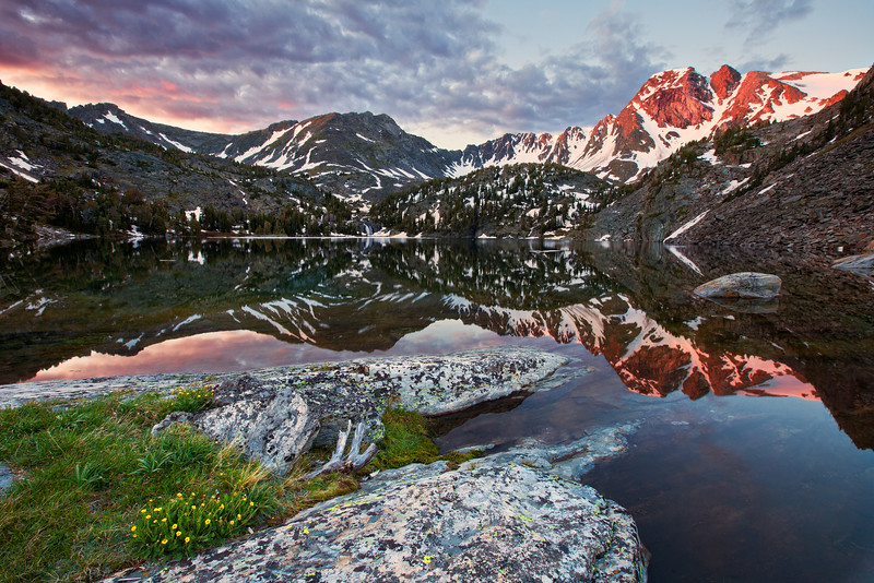 Pine Creek Lake at First Light, Absaroka-Beartooth Wilderness, MT