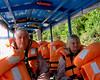 Tambopata boat ride- Mike and Joann