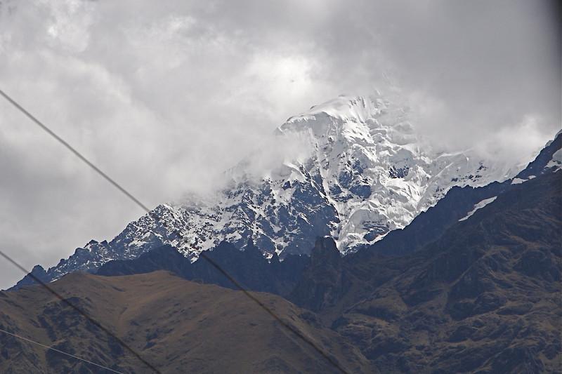 One of the three peaks 19K to 22K feet near Machu Picchu, probably Nevado Veronica