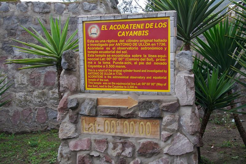 At the exact equator