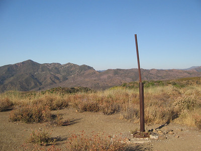 A pole in the middle of no where. I'm really not sure what this was for.