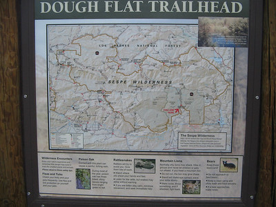 The map of the Sespe area located at Dough Flat.