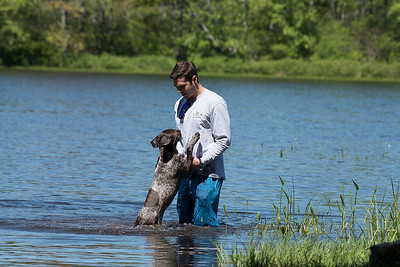 Spencer Ross, with Mowgli, his German Short-haired Pointer