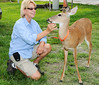 • Photographed by Arnold Dubin<br /> • Ursula enjoying getting to know this friendly deer