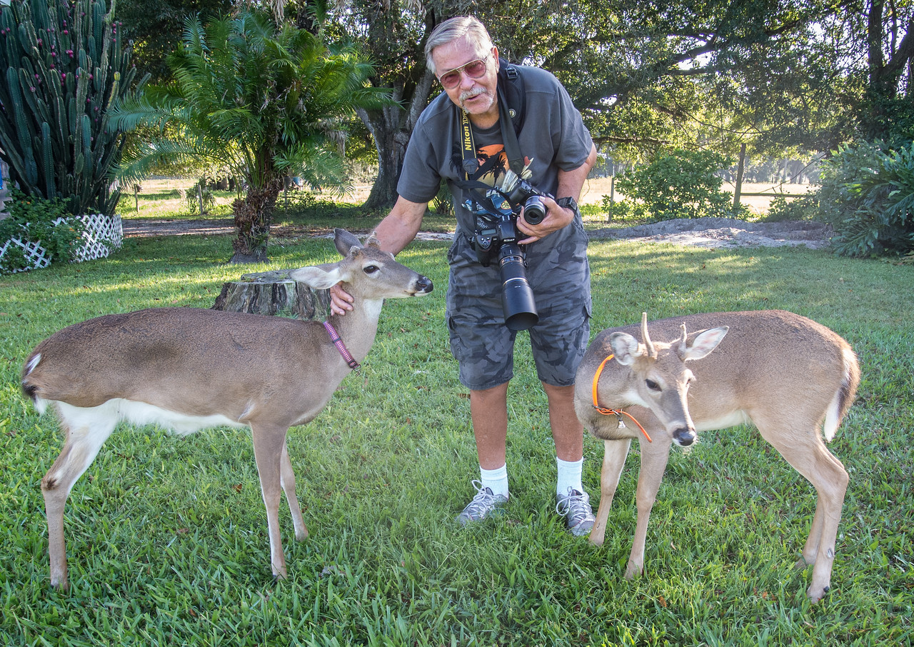 Mr 3 legs likes Ed a lot too. I guess the other deer like him also.