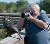 • Location - Wakodahatchee Wetlands - Delray Beach, Florida<br /> • Robert photographing the Double Crested Cormorant