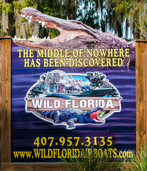 Entry sign to Wild Florida