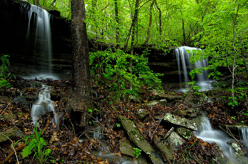 There are thousands of waterfalls like this in the Ozarks.  99% of them are dry for the majority of the year.  They only flow right after a strong rain like we had this weekend.  If you want to see them, you have a 2 day window after a good rain.