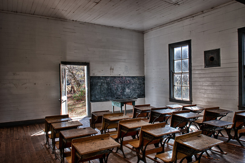 Smoky Mountains, Cataloochee Area; school room